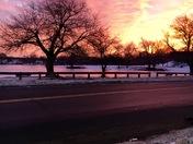 Sunrise over Lynn Woods 2/19/17