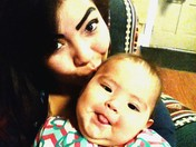 Mommy and me being silly