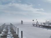 February fog over Wolfeboro bay