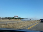 Fires off I35 near Purcell