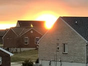 Rainbow around the sun this morning.