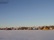Houseboats on Yellowknife Bay in Great Slave Lake