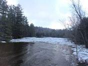 Schroon River ice jam