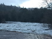 Ice jam by Schroon Falls