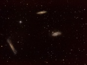 (The Leo Triplet) M65,M66 and NGC3628
