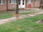 Flood in Front of Apartments