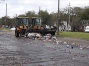 Marid Gras post truck parade clean up----fast forward