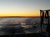 Sunset over harpswell