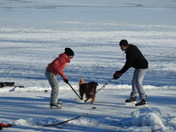 hockey on Loughborough Lake