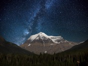 Mt. Robson at night