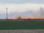 Wildfire west of El Reno