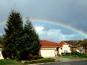 Beautiful Rainbow after the hail this morning....