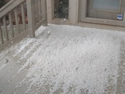 Pea size hail in Deer Creek