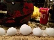 Desoto, baseball size hail