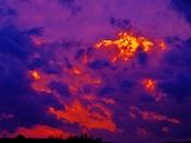 sunset clouds, 3-6-2017