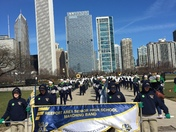Freeport High School Marching Band marched in the Chicago St. Patrick's Day Para
