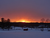 sunset after Snowstorm 3-17