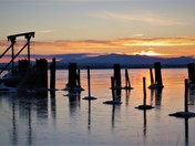 Sunrise, Friday 3-17-2017, taken from Port Kent, NY