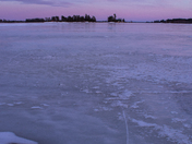 Ice sunset