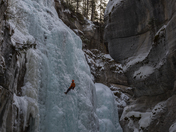 Ice Climbers in Jasper AB