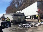 18 wheeler crash on business 40