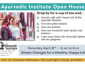 The Ayurvedic Institute Spring Open House