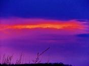 sunset clouds, 3-22-2017