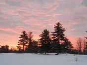 Morning sunrise in West Newfield