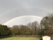 Rainbow in our backyard