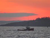 Saturday night sunset at Hermit Island in Phippsburg Maine