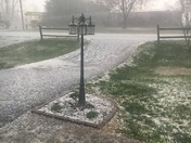 Hail storm in Dobson