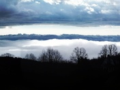 Two layers of clouds