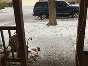 Hail in Rio Rancho