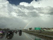 rainbow from storm on 3/29
