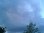 Huge dark clouds