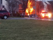 House fire in Lititz on Balmer Road