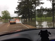 flooded road way