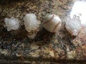 Baseball sized hail in munford Alabama