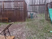Hail in Borden Indiana