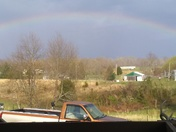 Rainbow after storm went through in new middletown, ind.