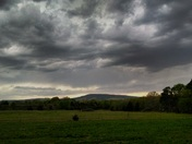 Yesterday evening as the storms moved in
