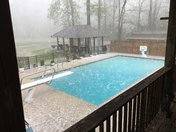 Check Hail Splashes in Pool Water