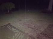 Hail just north of Yanceyville