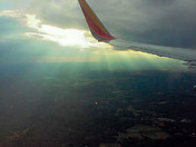 Flying into the sunset