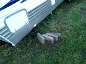 The storm moved the bricks from underneath our camper about two feet.
