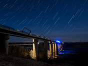 Star Trails over High Trestle Trail Bridge