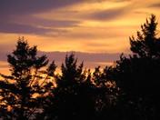 Beautiful sunset & than the moon on hermit island
