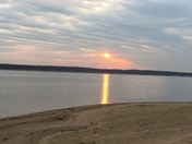 Sunset on Saylorville Lake.