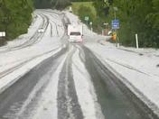 Hail near Penn Valley
