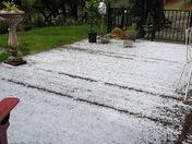 Hail in north auburn